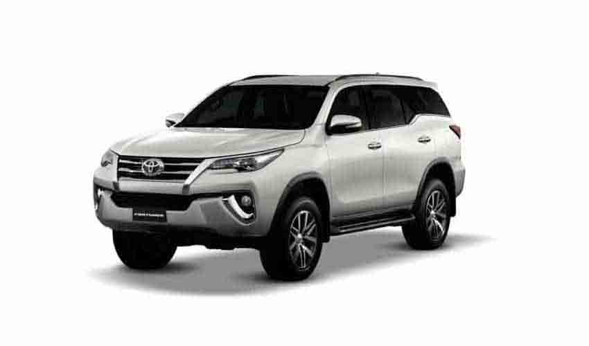 Vehicle Toyota Fortuner new for rent in Samui