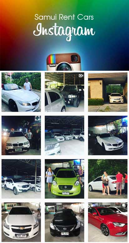 Rent a car on Samui in the instagram